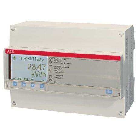 ABB A43 111-100, fogyasztásmérő háromfázisú, 1%, impulzus kimenet, direkt mérés (80 A)