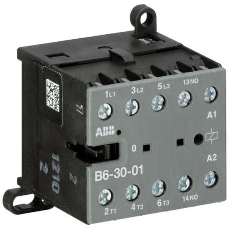 ABB GJL1211001R8010 B6-30-01-230AC 4 kW / 8A AC3, minikontaktor, 3P+1NC, tek.: 220...240 V AC