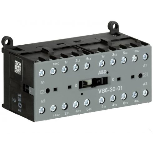 ABB GJL1211901R8010 VB6-30-01-230AC 4 kW / 8A AC3, minikontaktor, 3P+1NC, tek.: 220...240 V AC,