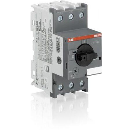 ABB MS116-6,3 1SAM250000R1009 Motorvédő 4-6,3A 50 kA elektrom.és termikus kioldóval