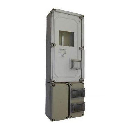 Csatári Plast CSP 36331400 PVT 3060 FO 2x6 ÁK Fogyasztásmérő szekrény 3fekete 300x600x170