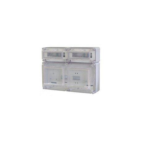 Csatári Plast CSPE 36365500 PVT EON 3060 Á-V Fm ÁK Fogyasztásmérő szekrény 2x3 fázisú EON engedélyes