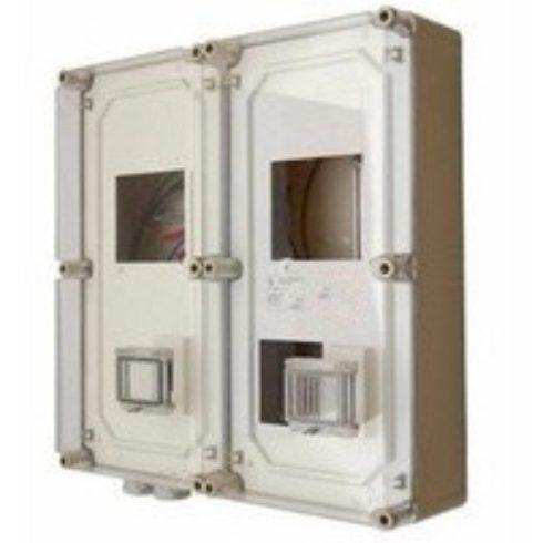 CSPEA 34060000 PVT EON 6060 Á-V Fm - AM 2x3 fázisú Fogyasztásmérő szekrény EON eng., alsó maszkkal