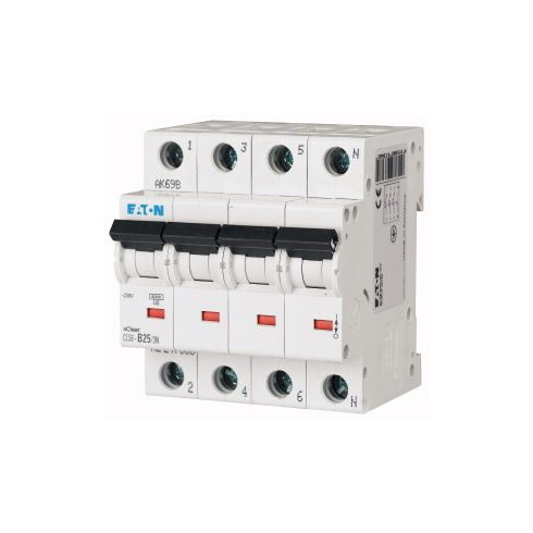 EATON 247754 CLS6-C50/3N-DE Kismegszakító 3P+N/ 50A/C CLS6  6kA