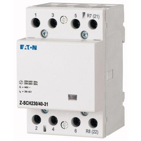 EATON 248854 Z-SCH230/40-31 Mágneskapcsoló 40A 230V 3z+1ny