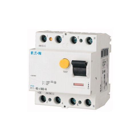 EATON 263590 PF7-63/4/003-DE FI kapcs. 4P/ 63A 30mA/AC