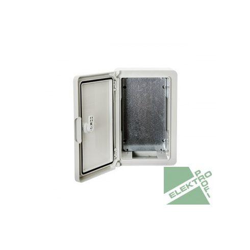 ELMARK 5312030130 ELMARK PP3001 Szekrény ABS 300X200X130 fali. műa. IP65 szer.lappal