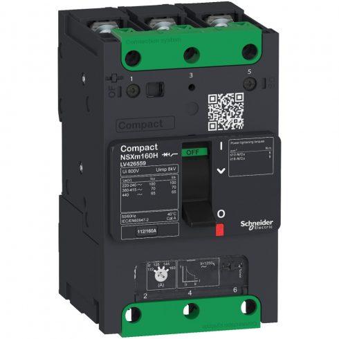 Schneider LV426256 Compact NSXm 25kA TM80D 3P sín