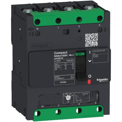 Schneider LV426272 Compact NSXm 25kA TM32D 4P/4T sín