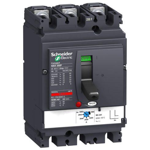 Schneider LV431748 3P3D MA220 NSX250F komplett megszakító